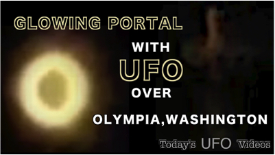 Glowing Portal and UFO Over Olympia Washington