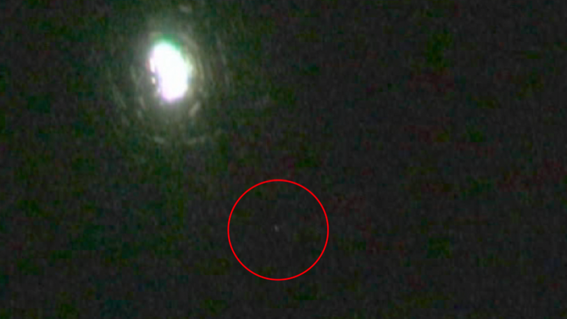 White Orb UFO Captured On Tape Descending Into Woods 12-12-13